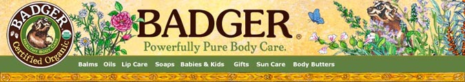 BADGER BALM Powerfully Pure Bodycare For Health, and Natural Beauty