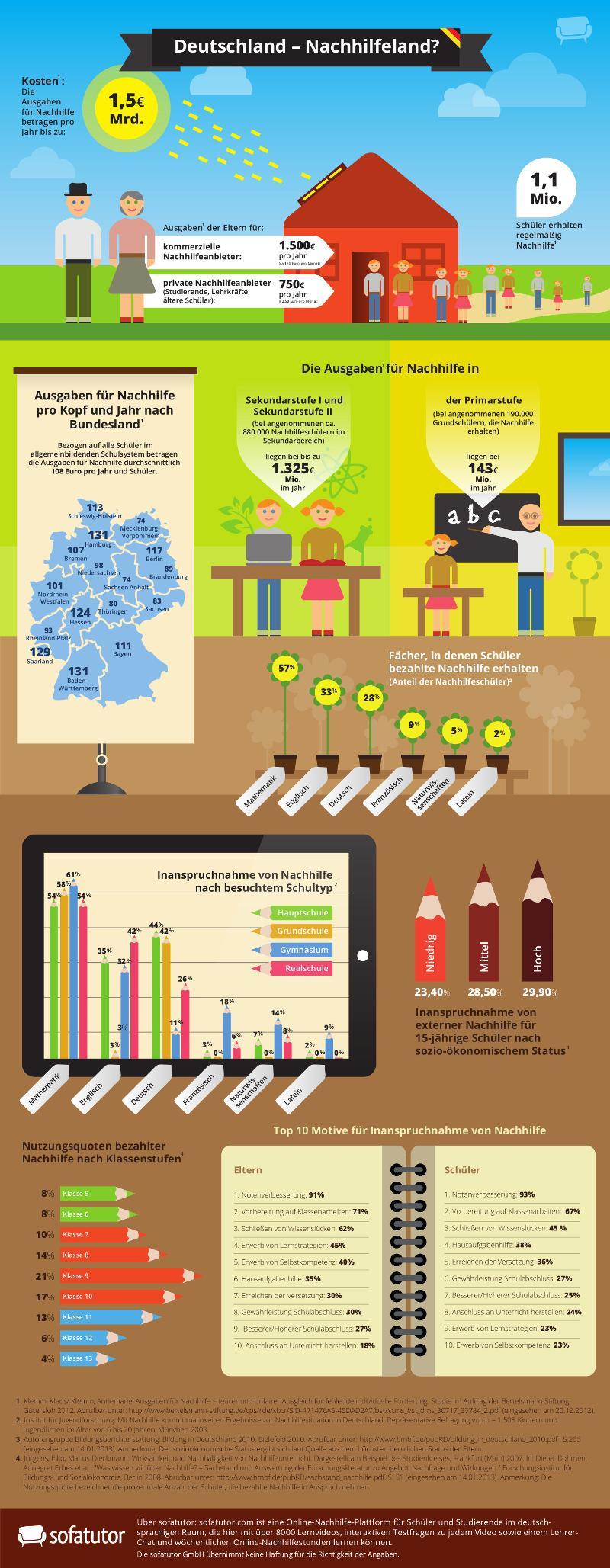 Infografik Nachhilfemarkt