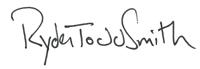 Ryder Todd Smith Signature