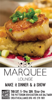 Marquee Lounge: Make it Dinner & a Show