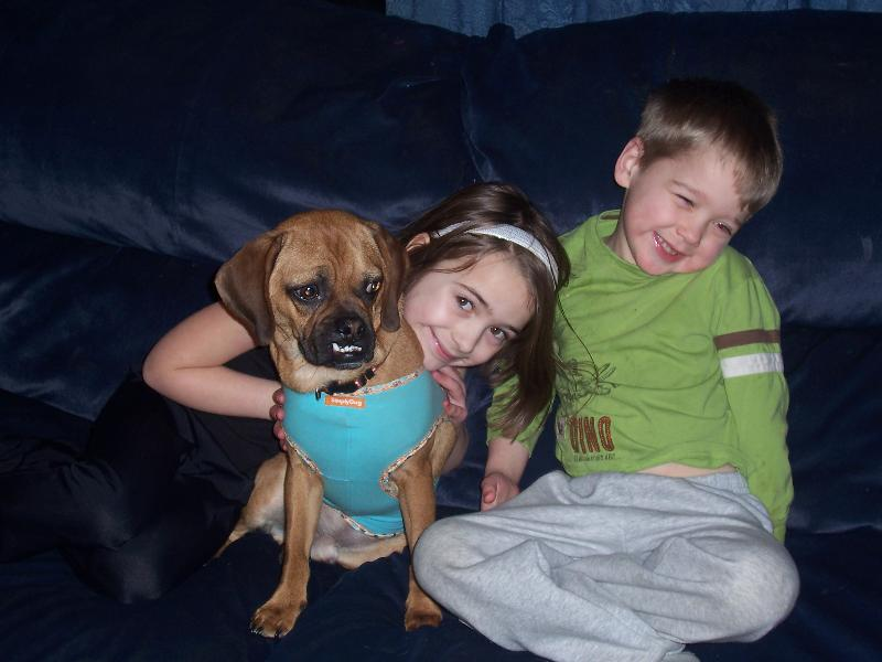 Rigby with Savannah and Ben