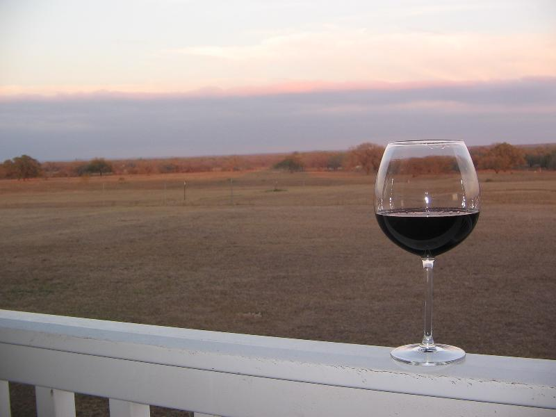 A Relaxing Glass of Wine at Sunset