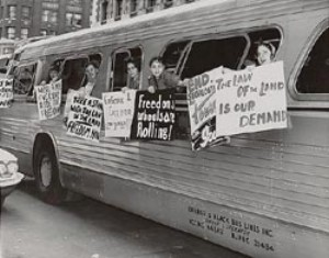 freedom riders on buses