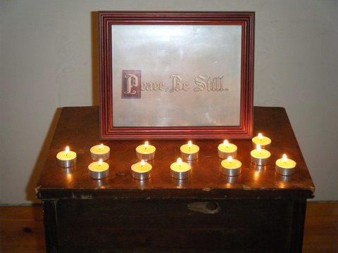 WDOP Table with Candles