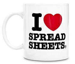 I love spread sheets