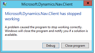 Resolution for Dynamics NAV 2016 Error _Error occurred while creating a control add-in_  Posted by_Joseph Gress on
