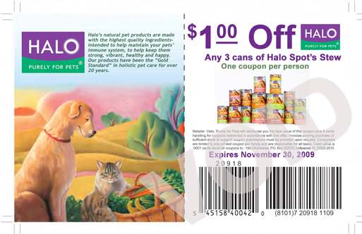 $1 off 3 Cans of Spot's Stew