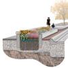 West Union parkway planter