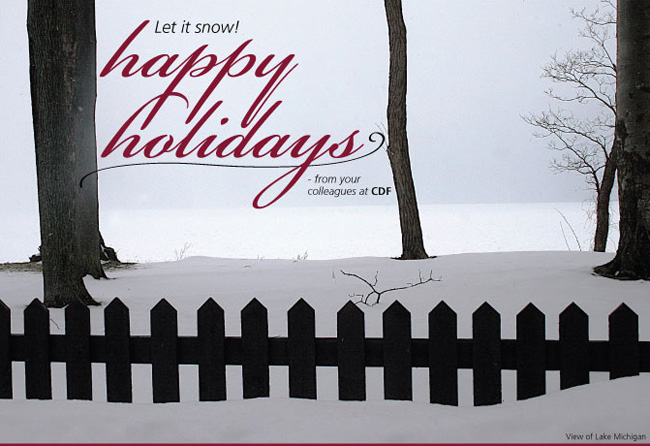 Let it Snow! Happy Holidays from CDF.