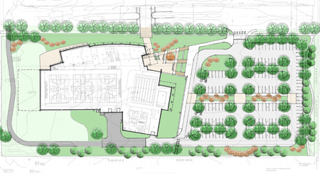 Carol Stream Recreation Center Landscape Plan