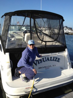 Kathy on board Visualize