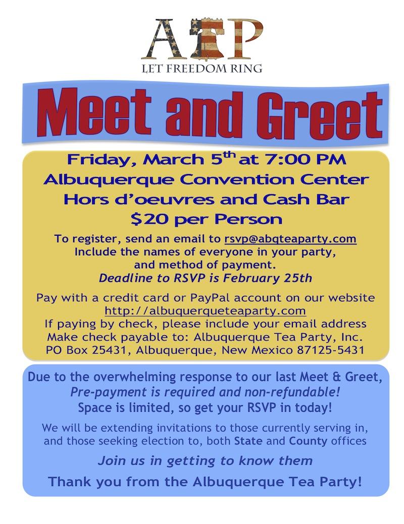 March 5th Meet & Greet Flyer