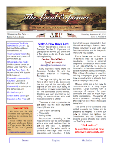 The Local Exposure Front Page I1:N6