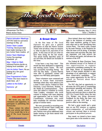 The Local Exposure Front Page I1:N2