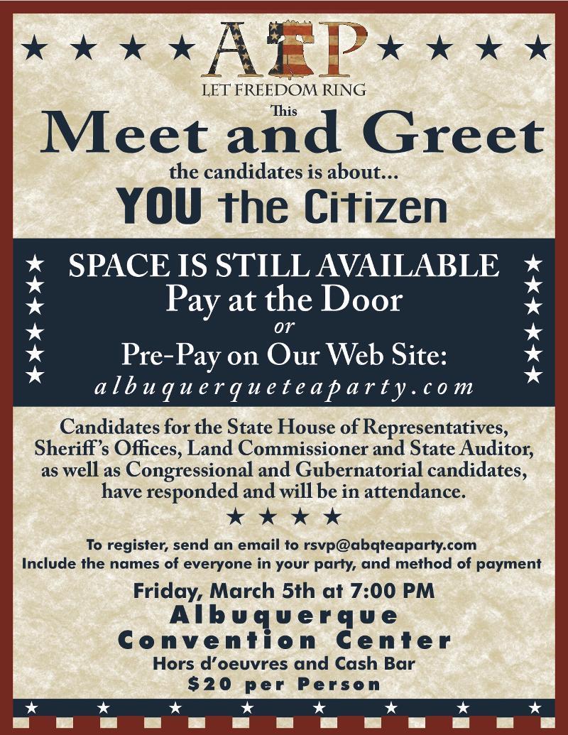 March 5th Meet & Greet Flyer 4A