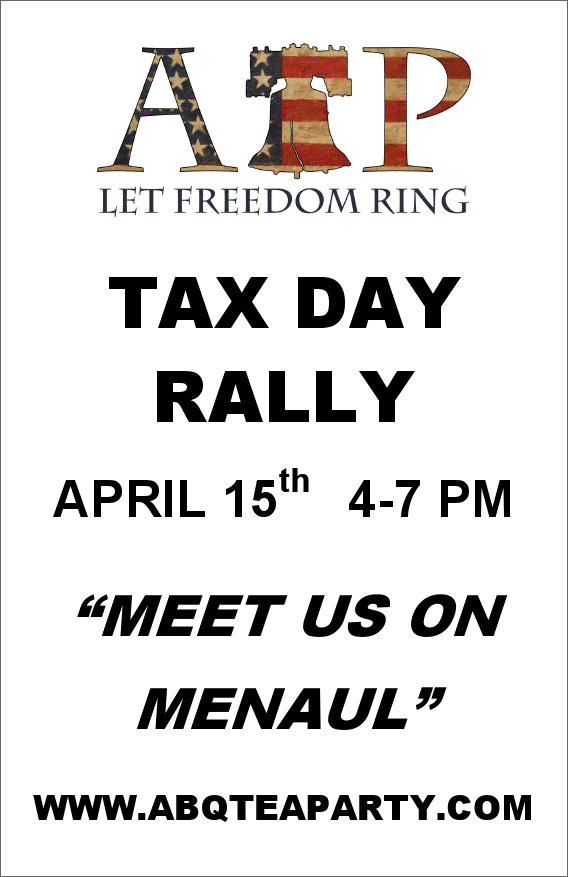 Tax Day Rally 2011 Flyer 1