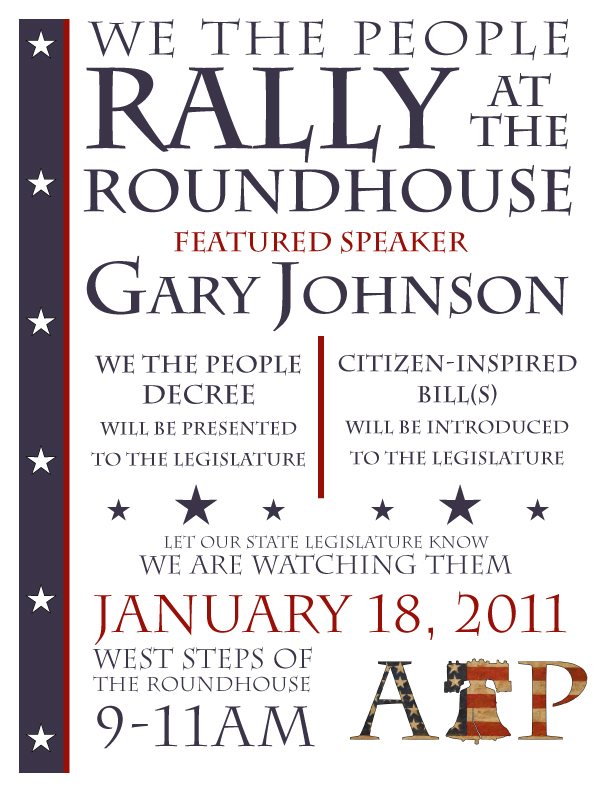 We The People Rally Flyer