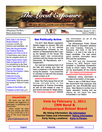 The Local Exposure Front Page I2:N1