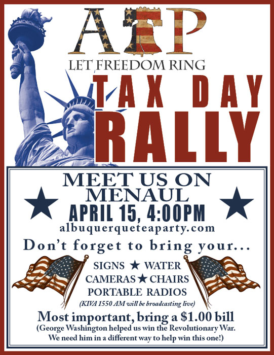 Tax Day Rally Flyer