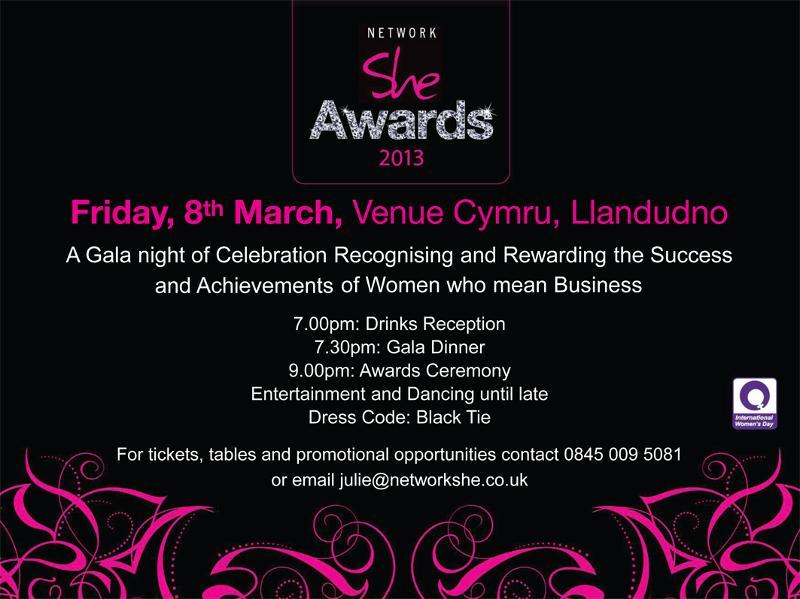 Network She Awards invite 2013