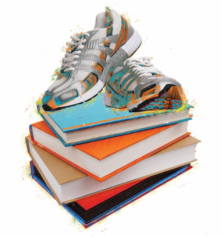 Sneakers on Books