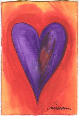 Heart of Paradise Original Art Card by Raphaella Vaisseau