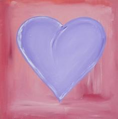 24x24 Heart of Lilacs - original art on canvas