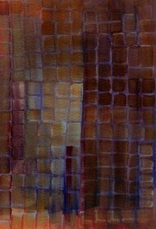"""Bricks - original 7""""x10"""" watercolor on paper"""