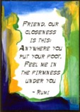 Friend quote - Rumi