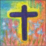 "4"" x 4"" original art - Illuminated Cross"