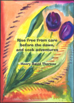 Rise free from care poster - Thoreau