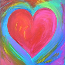 20x20 Heart of Allowing original acrylic painting