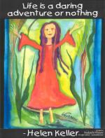 Life is a daring adventure poster - Helen Keller
