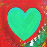 Heart of a Firey Woman - original 10x10 acrylic