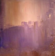 Cityscape at Sunset by Raphaella Vaisseau