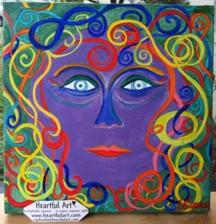 10 x 10 original by Raphaella Vaisseau - Moon Goddess