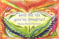 Live the life postcard - Thoreau