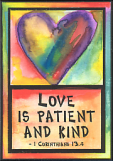 2x3 Love is patient and Kind magnet - $5