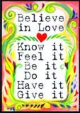 Believe in Love magnet by Raphaella Vaisseau