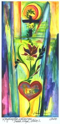 5x10 giclee print of Faith, Hope, Love