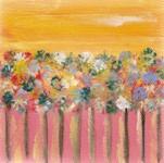 Georgia Spring Garden - 4x4 original art by Raphaella Vaisseau