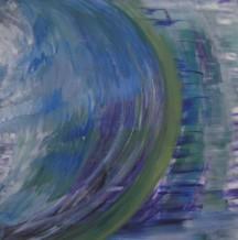 """Earth Oceans 24"""" x 24"""" original acrylic on canvas"""