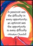 Pessimist-Optimist magnet