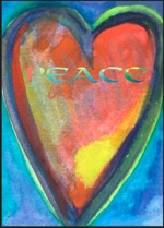 5x7 Peace heart poster