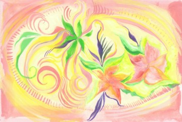 7x10 original  watercolor - Lily Pool