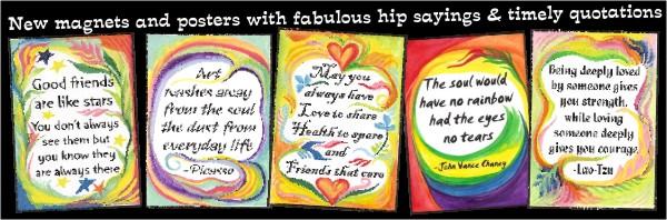 Five new Heartful Art magnets by Raphaella Vaisseau