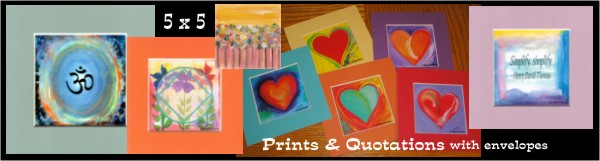 5x5 miniature prints and quotations