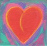 Fire Heart - 4x4 original acrylic