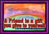 A Friend is a Gift - Stevenson (magnet)
