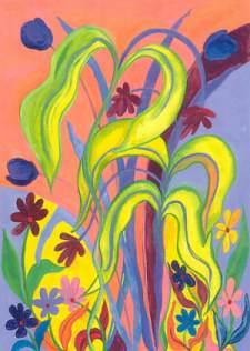 16 x 20 original art - Wild Flowers